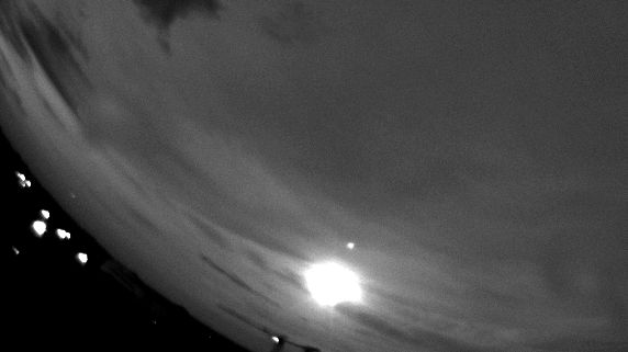La météorite observée le 7 septembre par une camera située à Toulouse au CNES.