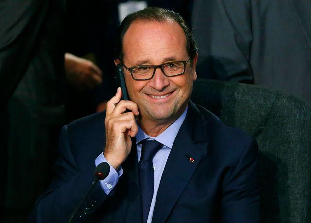 F. Hollande à Newport