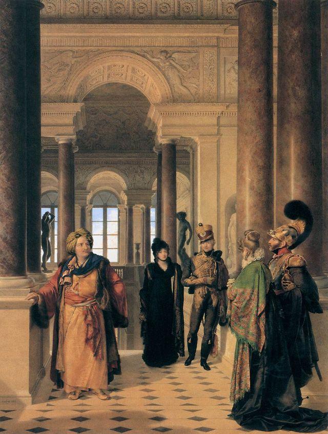 L'escalier du Musée - par Jean-Baptiste Isabey - 1817