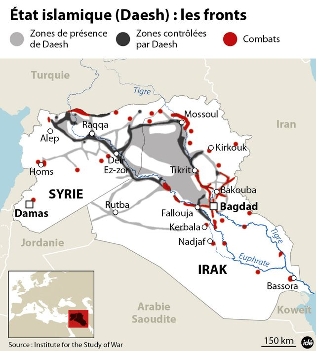 Infographie Etat Islamique en Irak