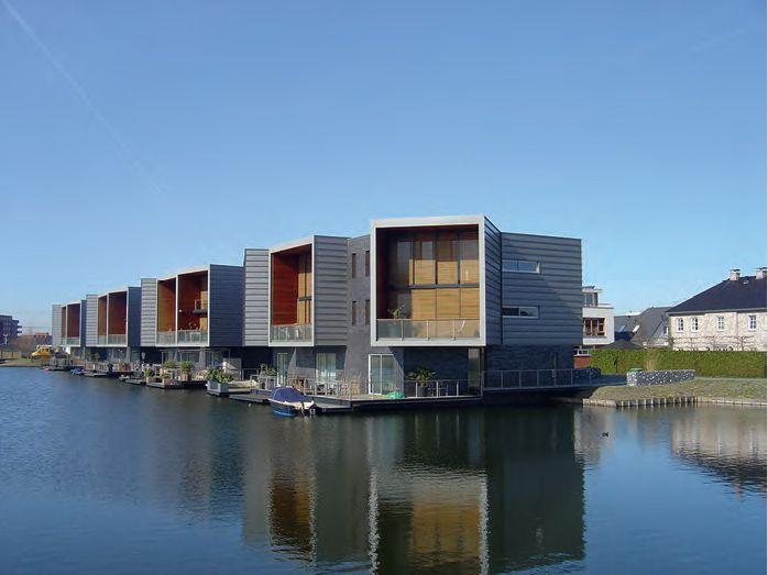 Rotterdam, ensemble de logements dans les nouveaux quartiers nords, Periscoopwoningen, Joke Vos Architecten, 2006.