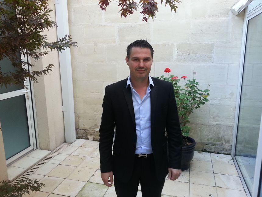 Jérôme Cosnard, maire sans-étiquette de Coutras depuis mars 2014