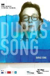 Affiche expo Duras Song à BPI Pompidou