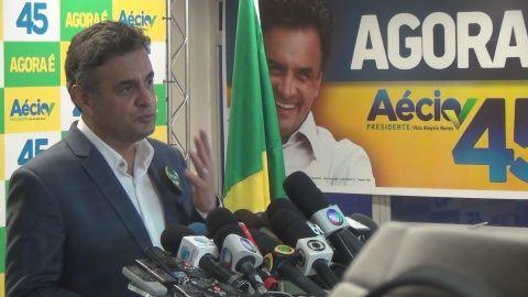 Le candidat conservateur à la présidentielle brésilienne, Aecio Neves