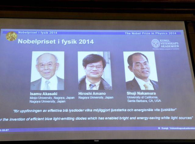 Les lauréats du Nobel de physique 2014