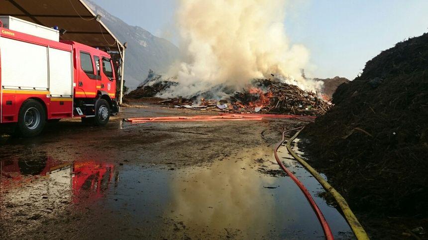 Incendie à Francin, en Savoie.
