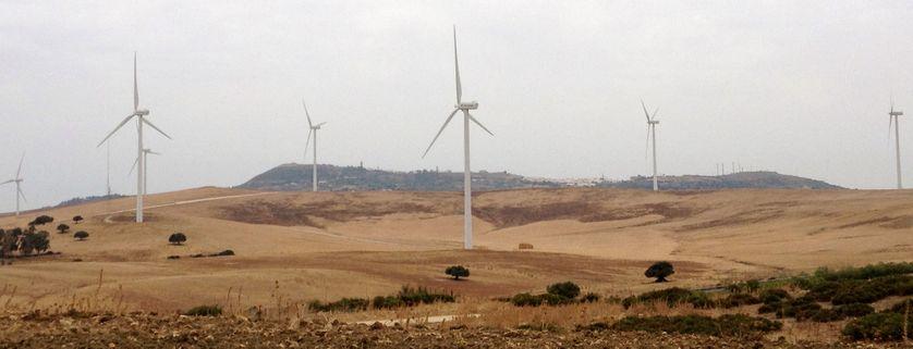 Un champ d'éoliennes à Medina Sidonia, Cadix
