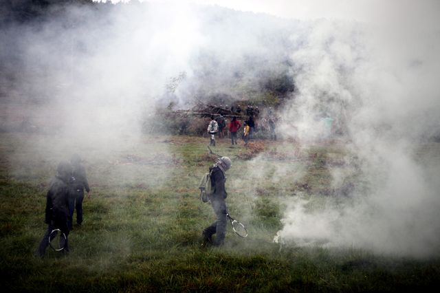 Des affrontements à Sivens en septembre 2014