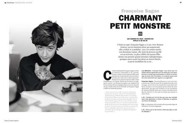 Sagan, pages 132 France Culture Papiers n°11