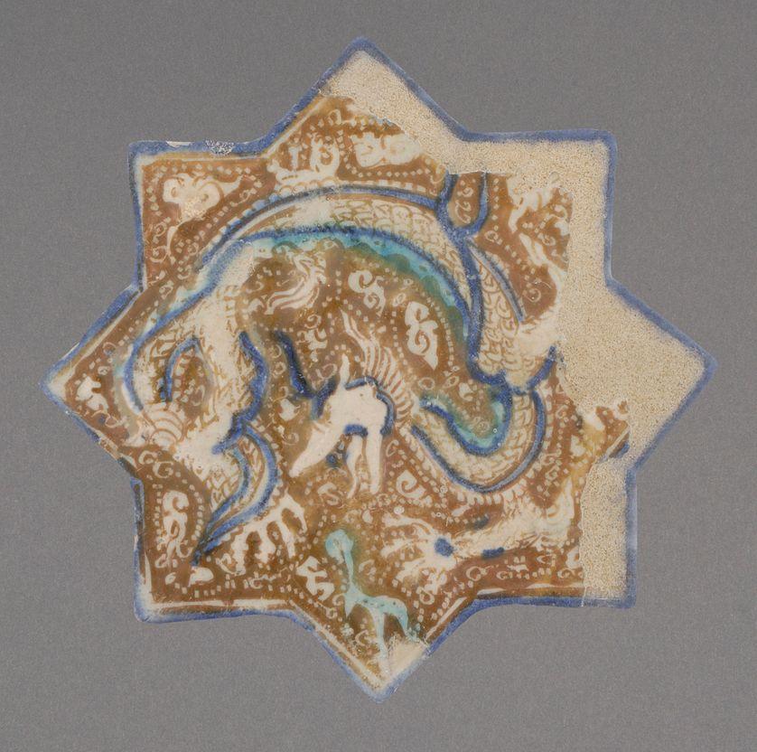 Carreaux iranien du site de Taht-e Sulayman