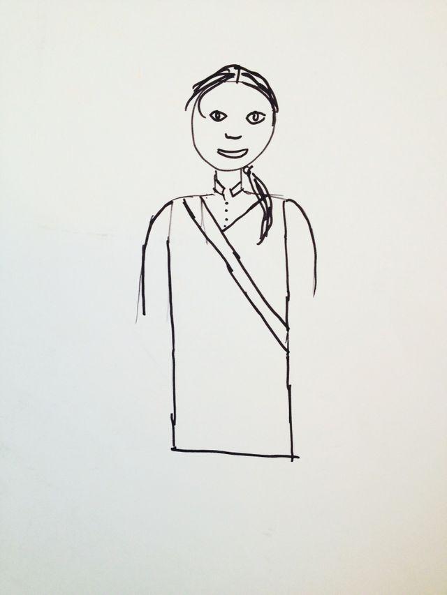 L'autoportrait de Sashka en uniforme