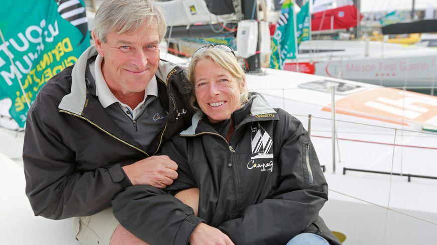 Miranda Merron (Campagne de France) et son concurrent de mari Halvard Mabire (Campagne 2 France).