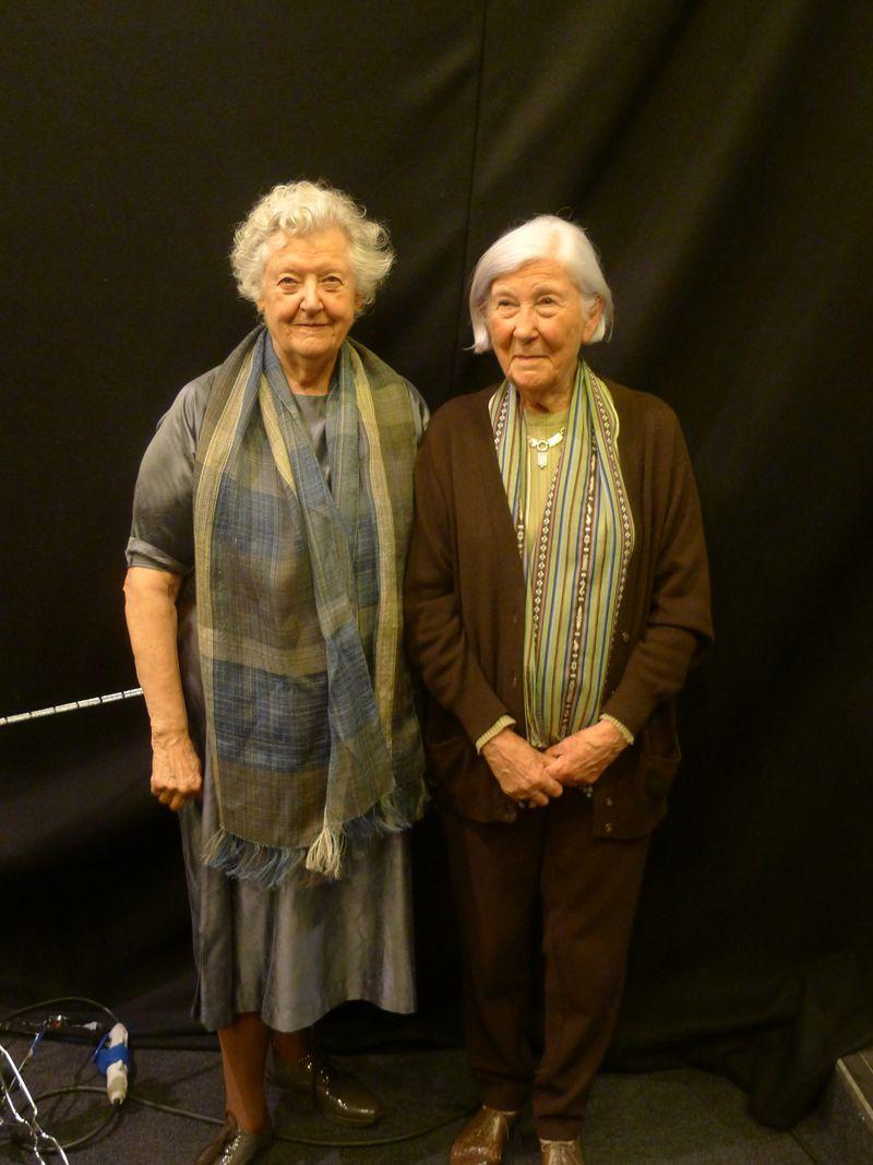 Sheila Hicks et Monique Lévi-Strauss