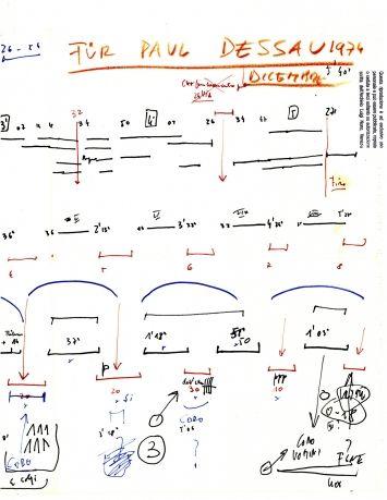 Luigi Nono-esquisse pour Für Paul Dessau - Concert Opéra Bastille - Festival d'Automne 2014