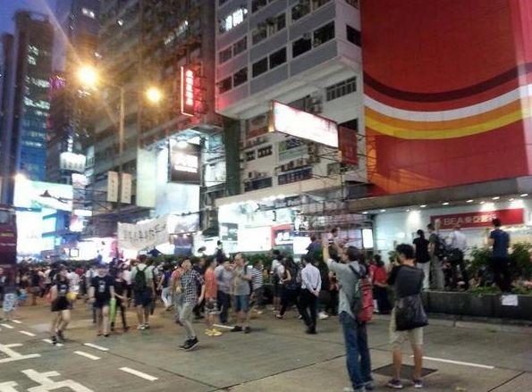 Manifestants prodémocratiques à Hong Kong
