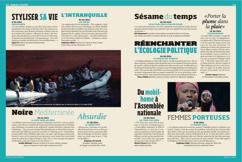 """Angélique Kidjo, """"Parole d'invité"""" page 151 France Culture Papiers n°11"""