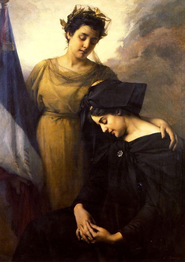 La perte de l'Alsace Lorraine par Emmanuel Benner, 1895
