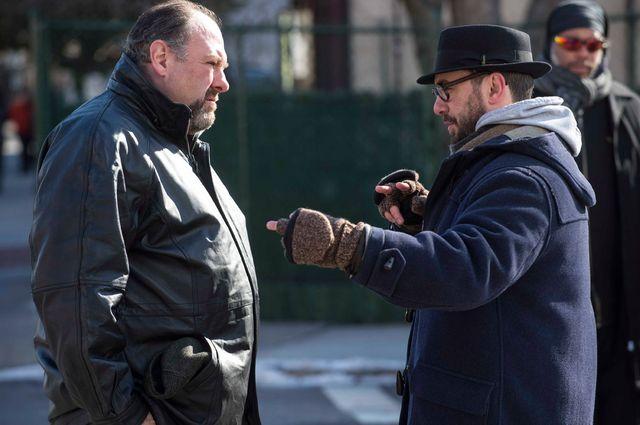 James Gandolfini et Michael R. Roskam (le réalisateur) sur le tournage
