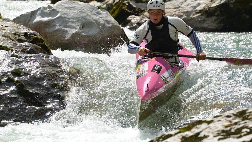 Marjolaine Hecquet, licenciée depuis ses débuts au club de canoë-kayak de Port Sainte-Foy (24).