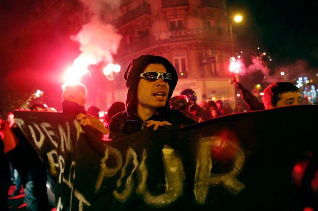 Une manifestation à la mémoire de Rémi Fraisse à Paris