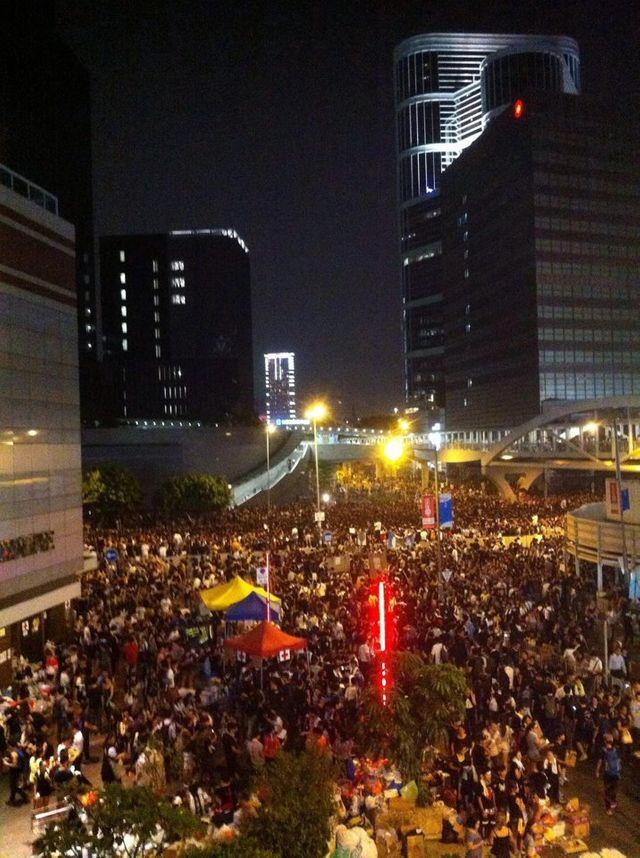 Manifestation dans le quartier de Mongkok