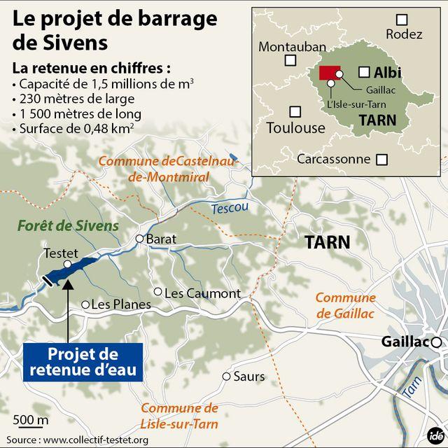 Le projet de barrage de Sivens