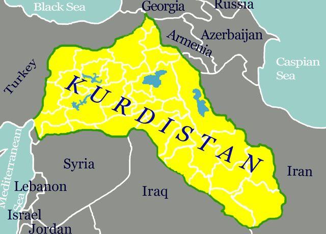 carte Kurdistan