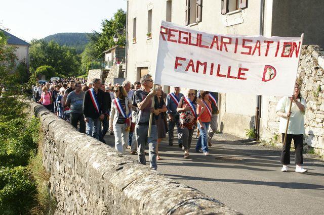 Manifestation du 05/08 à Barres des Cévennes