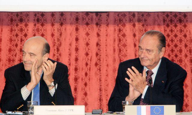 Alain Juppé et Jacques Chirac en 2007