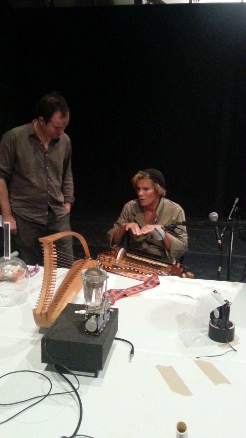 Thomas Baumgartner, Emmanuelle Parrenin avec instruments