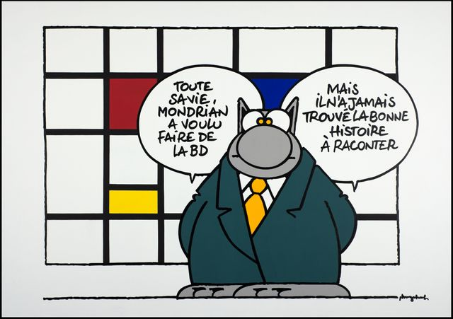 Philippe Geluck le chat Mondrian