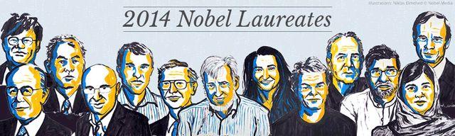 Les lauréats 2014 du Prix Nobel