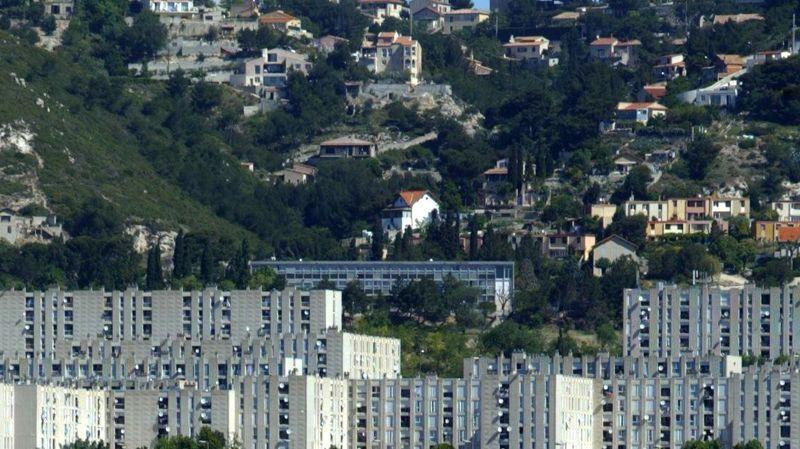 Le quartier de Verduron surplombe les cités de la Bricarde et la Castellane