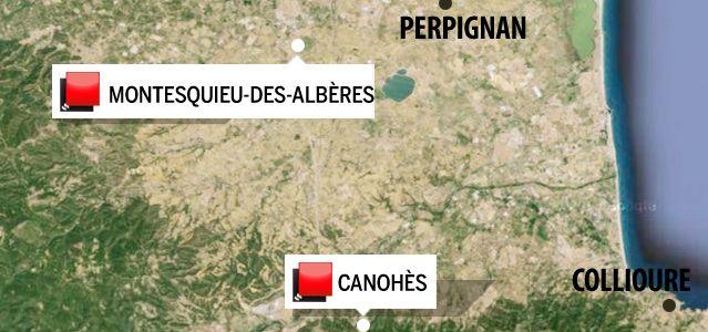 carte du jeu des 1000 euros - pyrénées orientales