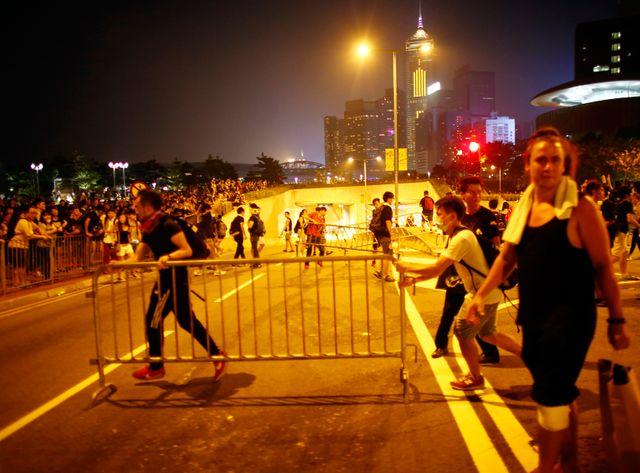 La tension est montée dans la soirée à Hong-Kong