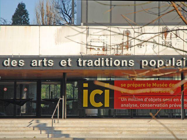 L'entrée de l'ancien musée national des arts et traditions populaires