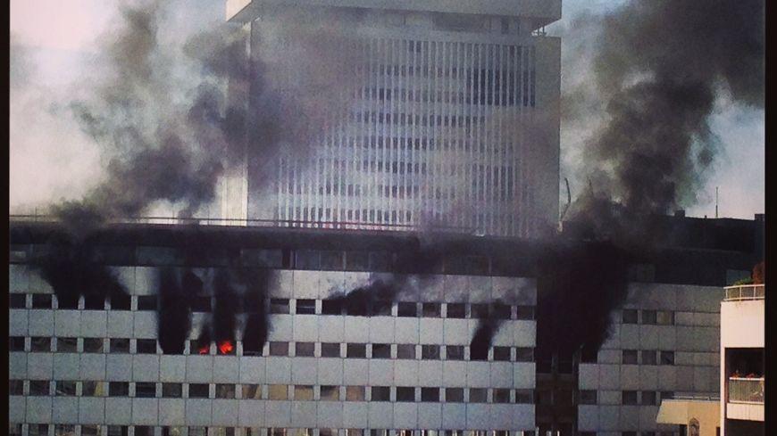 Violent incendie Maison de la Radio