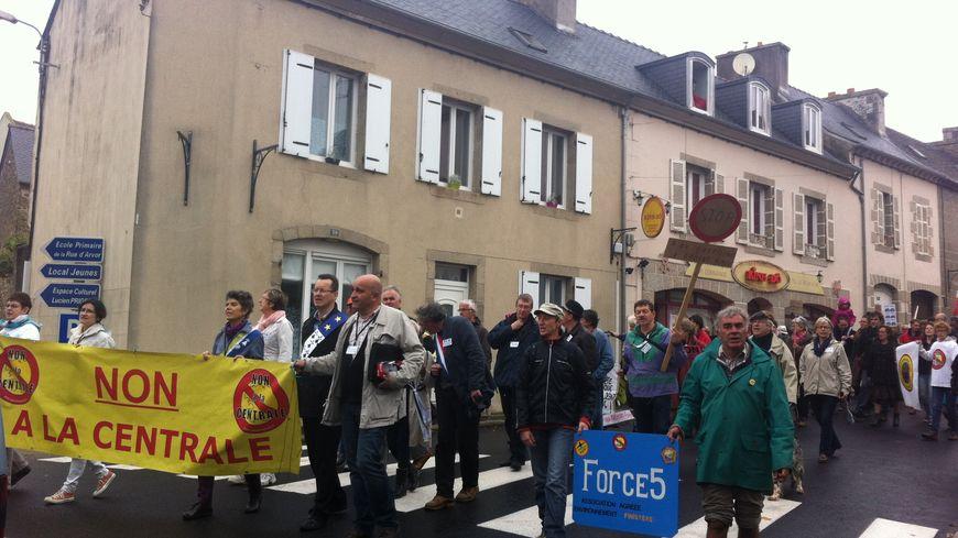 Manifestation à Landivisiau