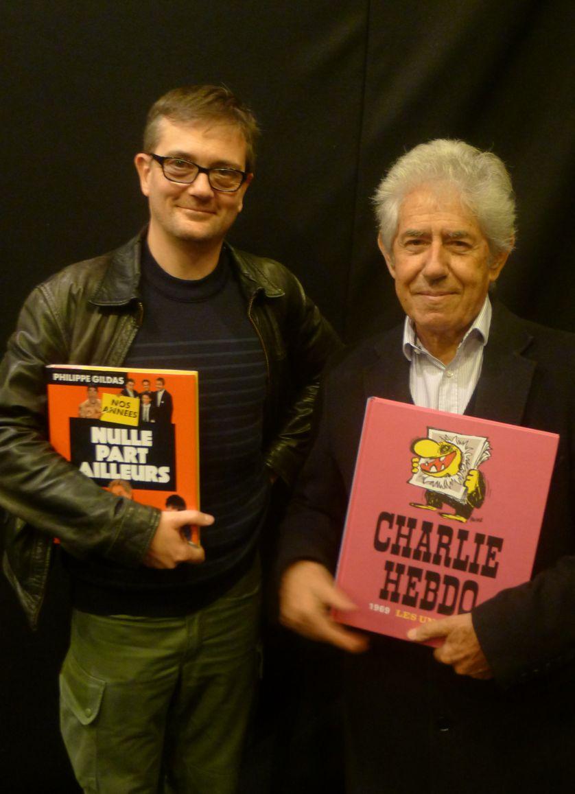 Charb et Philippe Gildas