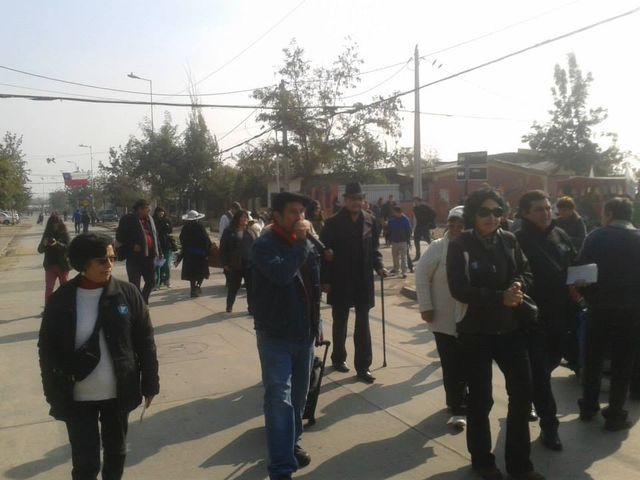 Lulo menant campagne en octobre 2012 dans la commune San Joaquin