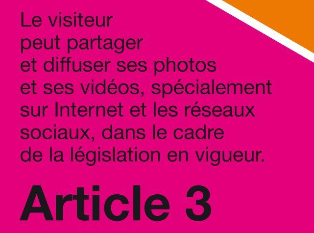 """Charte """"Tous photographes"""", article 3"""