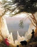 """Caspar David Friedrich, 'Falaises de craie sur l'Ile de Rügen"""" (1818)"""