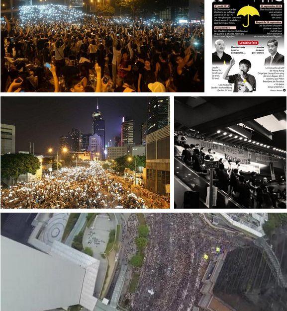 Mur de photos Twitter de Hong Kong