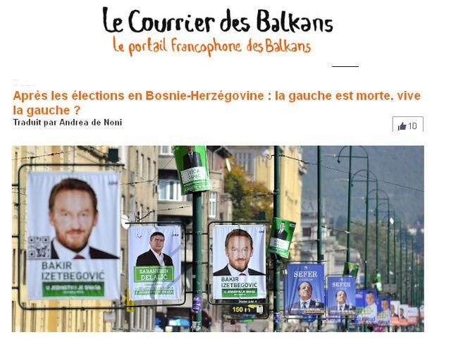 Enki Bilal - Courrier des Balkans
