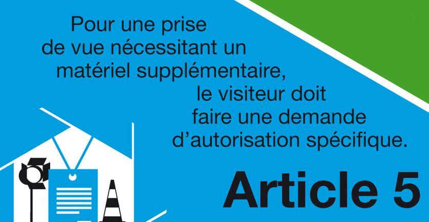 """Charte """"Tous photographes"""", article 5"""