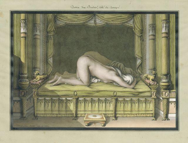 SADE à Orsay  : JJ  Lequeu, dessin de boudoir