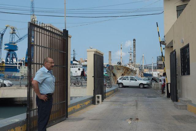 L'entrée d'un centre d'hébergement sur l'île de Malte