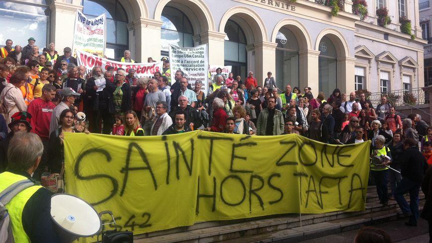 Manifestation anti-TAFTA à Saint-Etienne