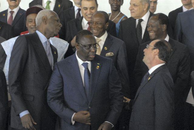 Theodoro Obiang Ngema, Alpha Conde, Alasane Ouattara, Francois Hollande, Abdou Diouf