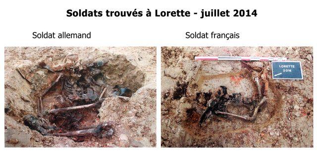 Deux dépouilles de soldats retrouvés cet été à Lorette